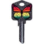 Kool Keys Rainbow Butterfly Key Blank