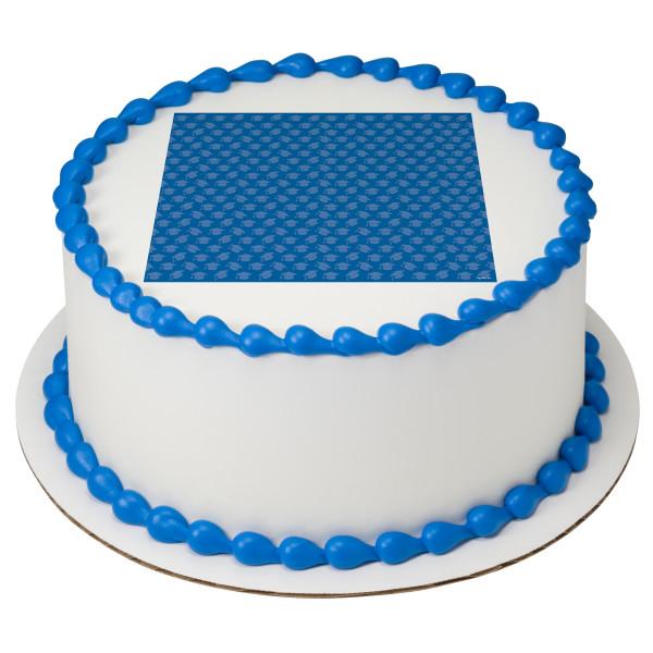 Blue Grad Hats PhotoCake® Edible Image®