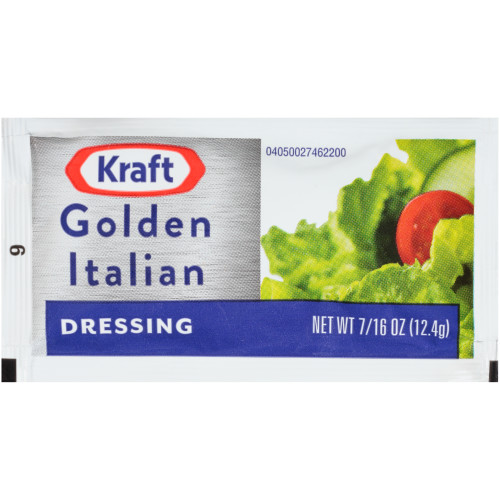 KRAFT Single Serve Golden Italian Salad Dressing, 0.4375 oz. Packets (Pack of 200)