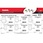 Sockets Assortment (Push-Thru, Turn Knob, & Pull Chain)