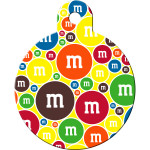 M&Ms Yellow Large Circle Quick-Tag
