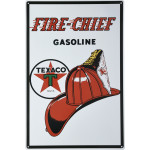 "Texaco Fire-Chief Gasoline Novelty Sign (12"" x 18"")"