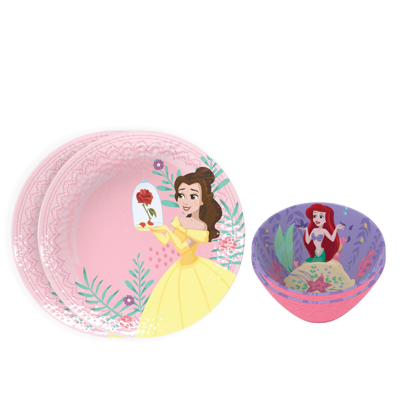 Disney Kids Plate and Bowl Set, Princess, 4-piece set slideshow image 1