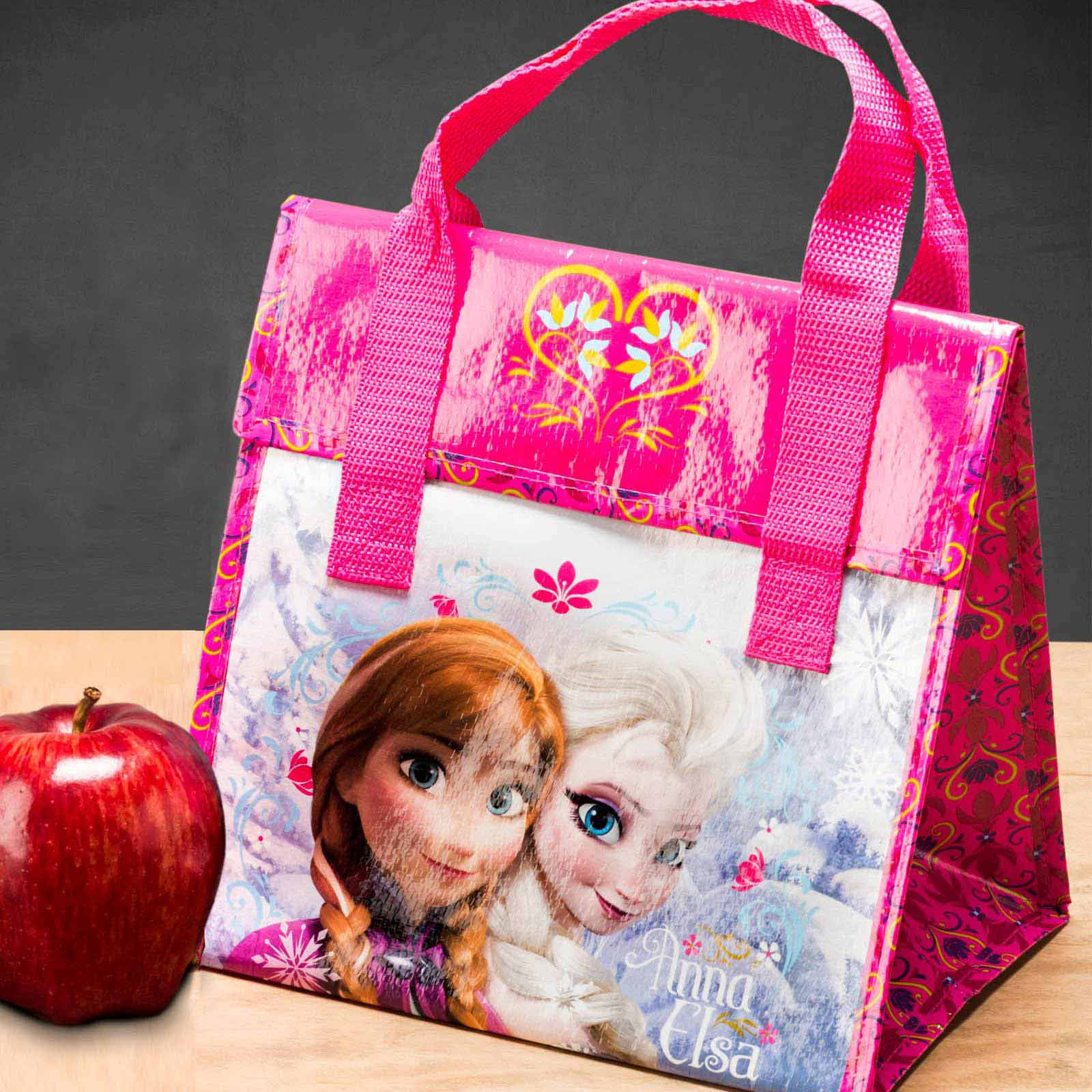 Disney Frozen Insulated Reusable Lunch Bag, Elsa & Anna slideshow image 1