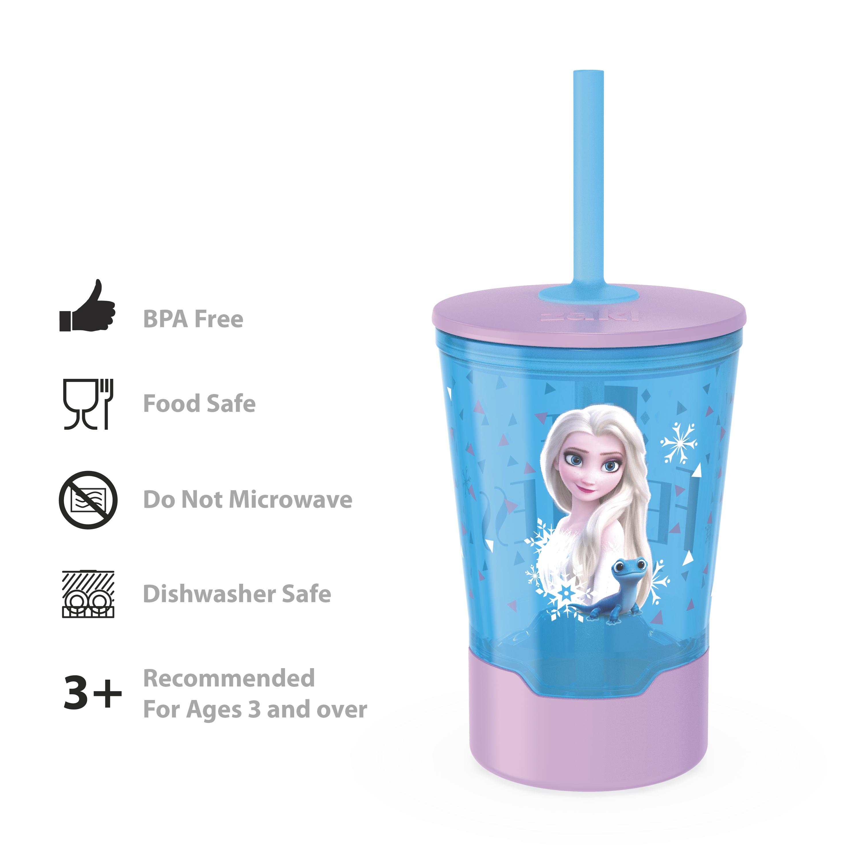 Disney Frozen 2 Movie 16 ounce Mighty Mug Tumbler with Straw, Princess Elsa slideshow image 7