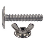 Stainless Combo Sidewalk Bolt & Washered Wing Nut Combo Pack