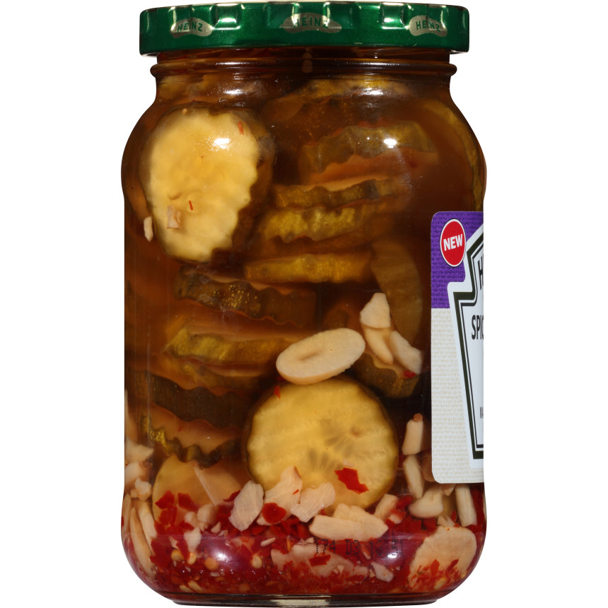 Heinz Spicy Garlic Pickle Chips, 16 fl oz Jar