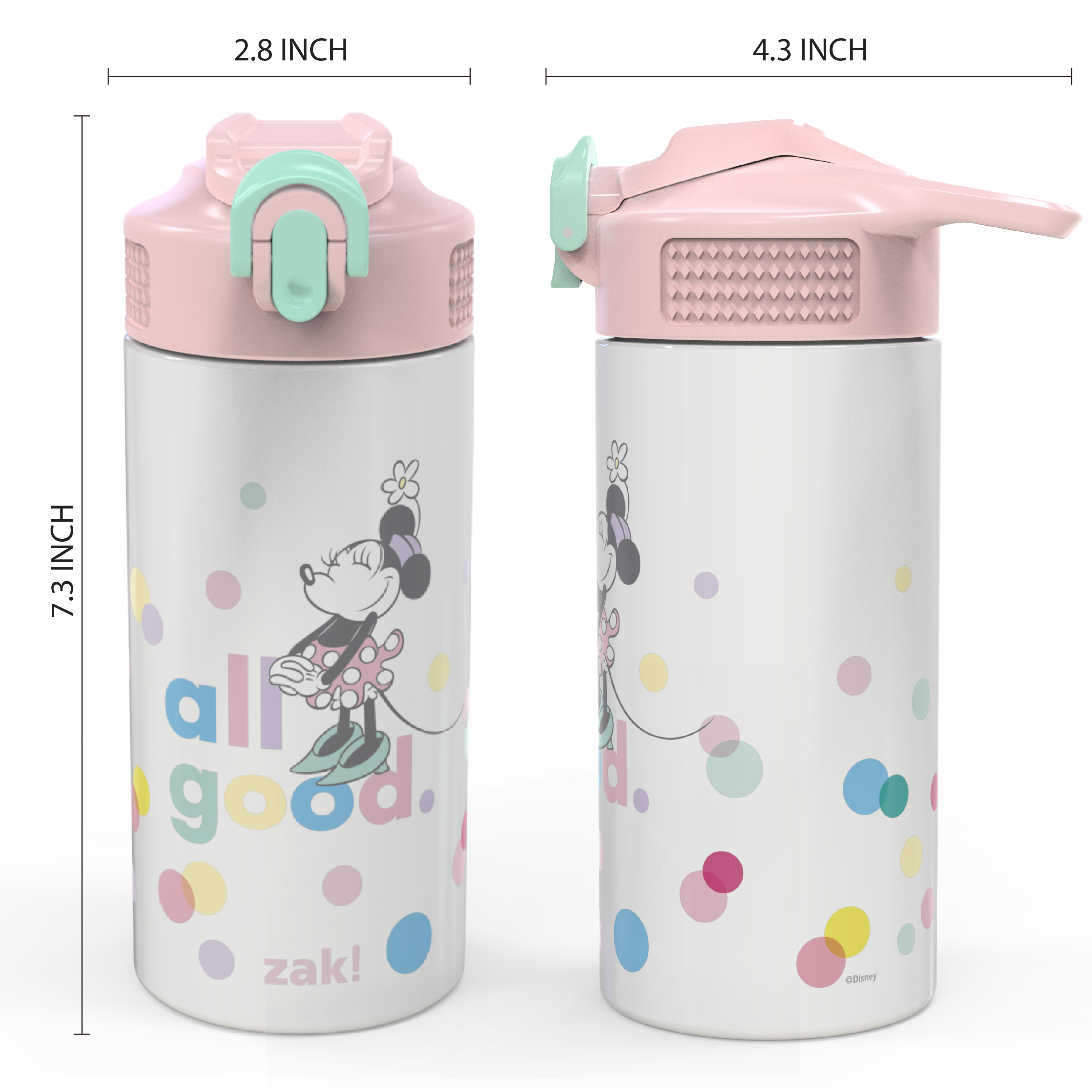 Disney 14 ounce Stainless Steel Vacuum Insulated Water Bottle, Minnie Mouse slideshow image 6