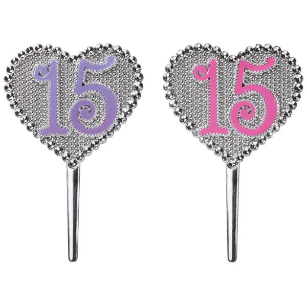 La Quinceañera Pink and Purple 15 DecoPics®