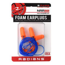 Radians Resistor® 32 Disposable Foam Earplugs - 3 Pair Corded