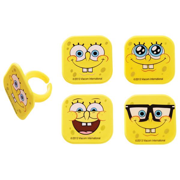 SpongeBob SquarePants™ Mood Faces Cupcake Rings