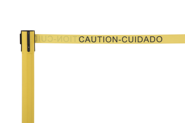 Sentry Stanchion - Yellow with 'Caution' belt 4