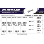 "Chrome Knurled-Head Socket Cap Screws Assortment (1/4""-20 Thread)"