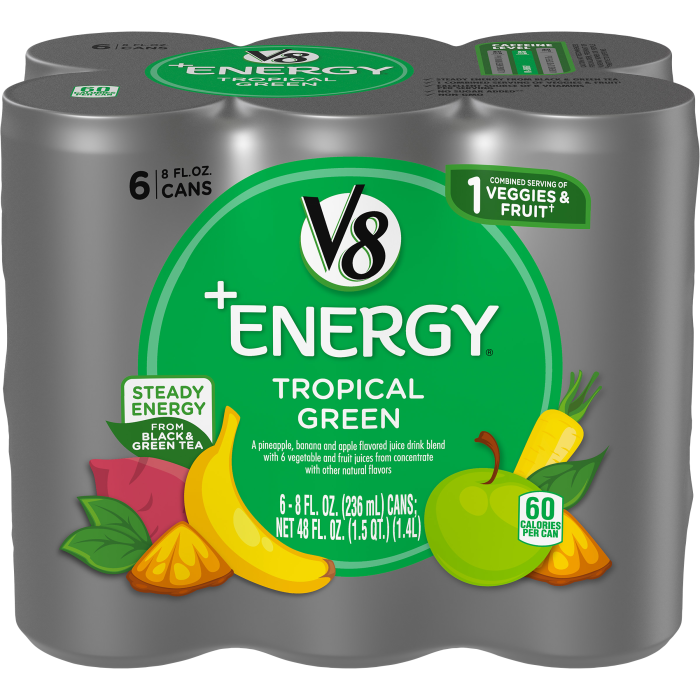 Healthy Energy Drink, Natural Energy from Tea, Tropical Green