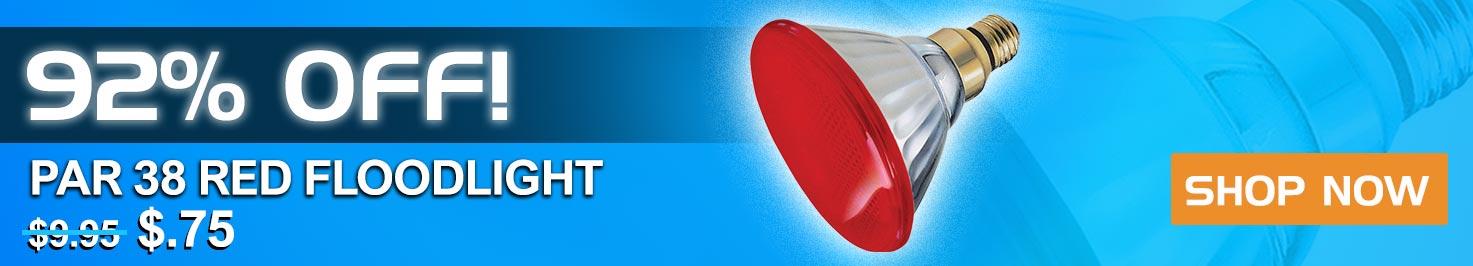 92% Off Par38 Red Floodlight