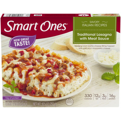 Smart Ones Savory Italian Recipes Traditional Lasagna with Meat Sauce 10.5 oz Box