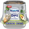Philadelphia Dips Spinach Artichoke Cream Cheese Dip with Pita Chips, 2.8 oz Cup
