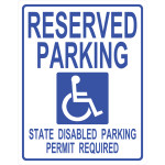 "Handicapped Parking Sign, 19"" x 15"""