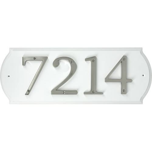 White Paintable Address Plaque (6