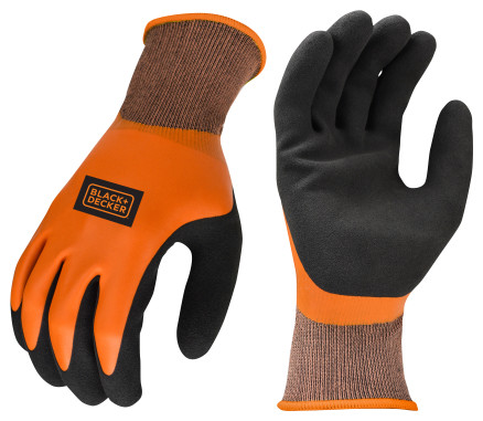 BLACK+DECKER BD518 Full Dip Waterproof Latex Work Glove
