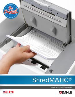 Dahle ShredMATIC® Brochure