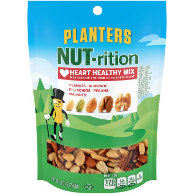 Planters NUT-rition Heart Healthy Mix 8.5 oz Bag