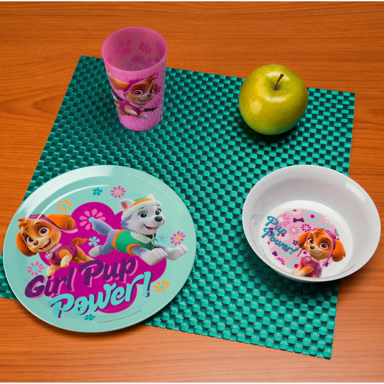 Paw Patrol Kids Dinnerware Set, Skye & Everest, 3-piece set slideshow image 3