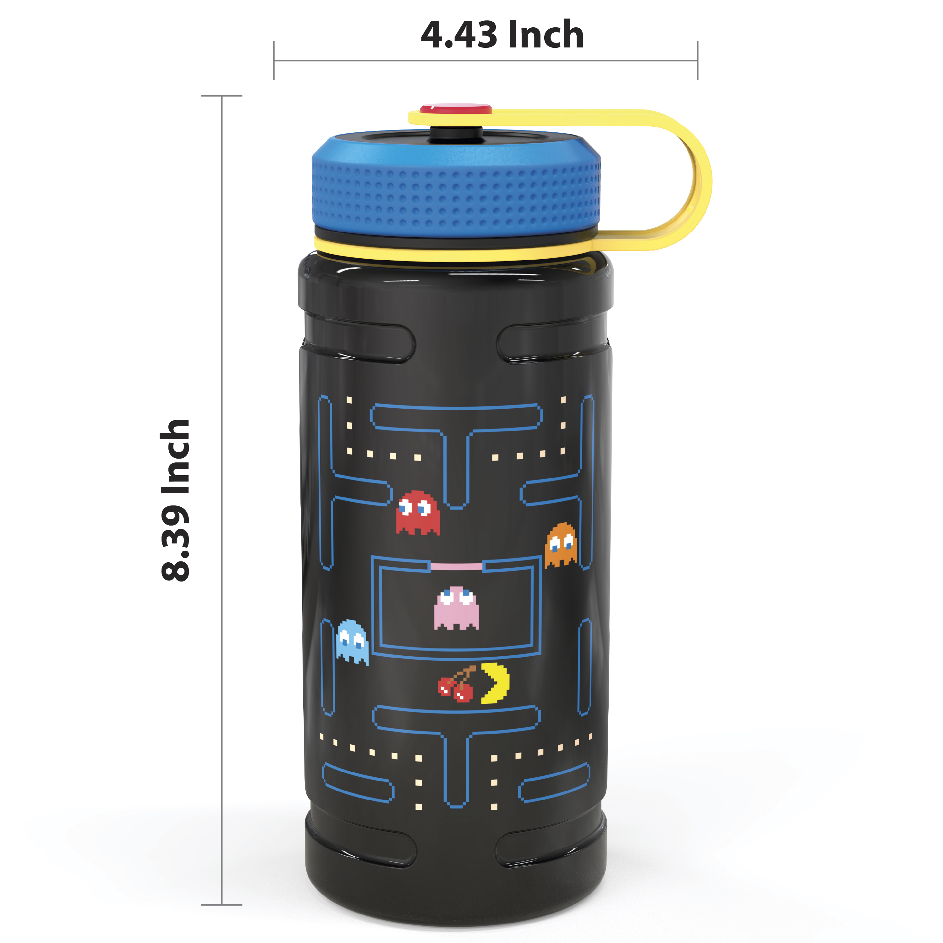 Retro Gaming 24 ounce Stainless Steel Insulated Water Bottle, Pac Man and Ghosts slideshow image 7