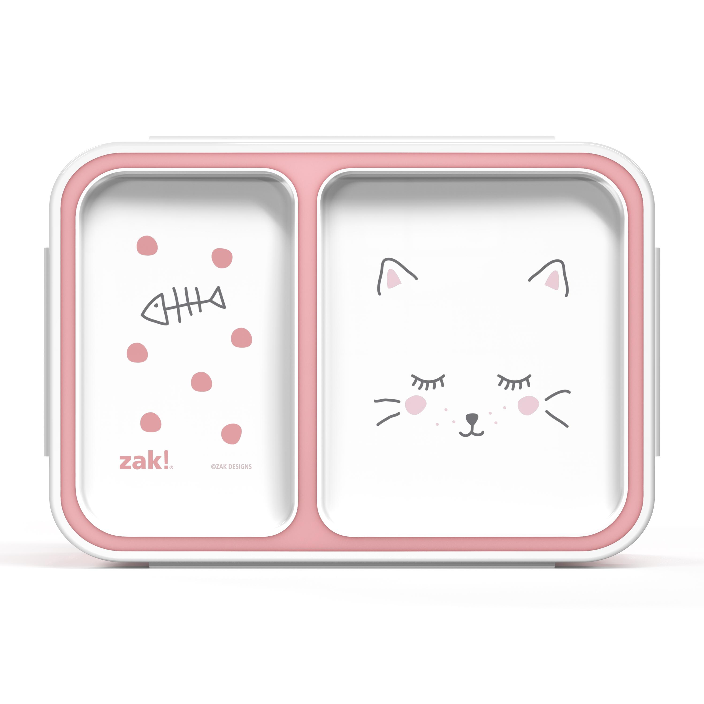 Soft Lines Dual-compartment Reusable Bento Box, Kitties slideshow image 2