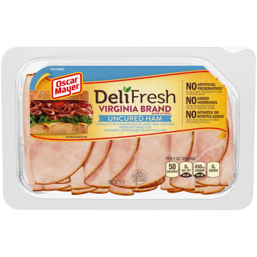Oscar Mayer Deli Fresh Virginia Ham 9 oz Tray