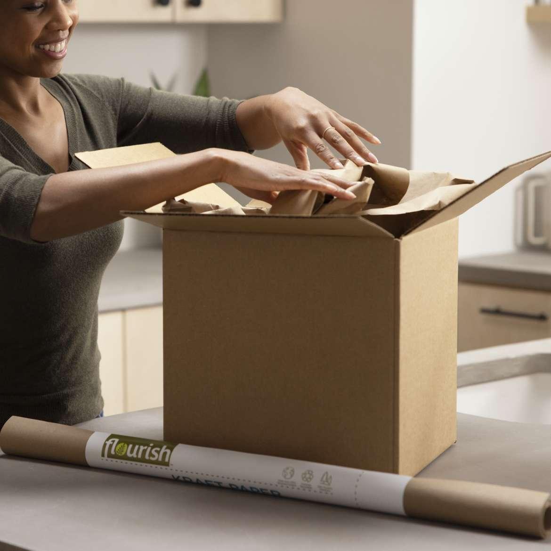Flourish™ 100% Recycled Kraft Paper Image