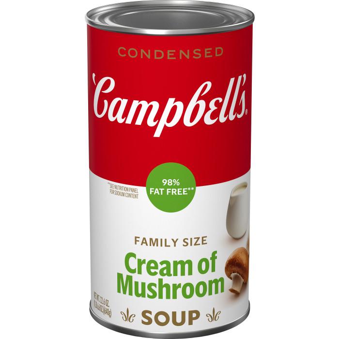Family Size 98% Fat Free Cream Of Mushroom Soup