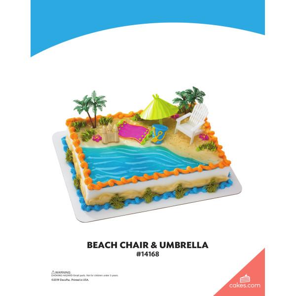 Beach Chair & Umbrella DecoSet® The Magic of Cakes® Page