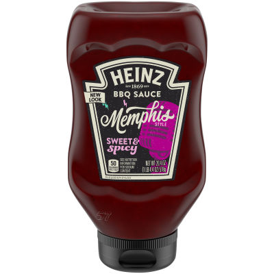 Heinz Memphis Style Sweet & Spicy BBQ Sauce 20.4 oz Bottle