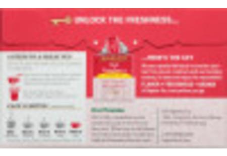 Back  of Red Raspberry Herbal Tea box