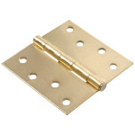 Hardware Essentials Square Corner Satin Brass Door Hinges