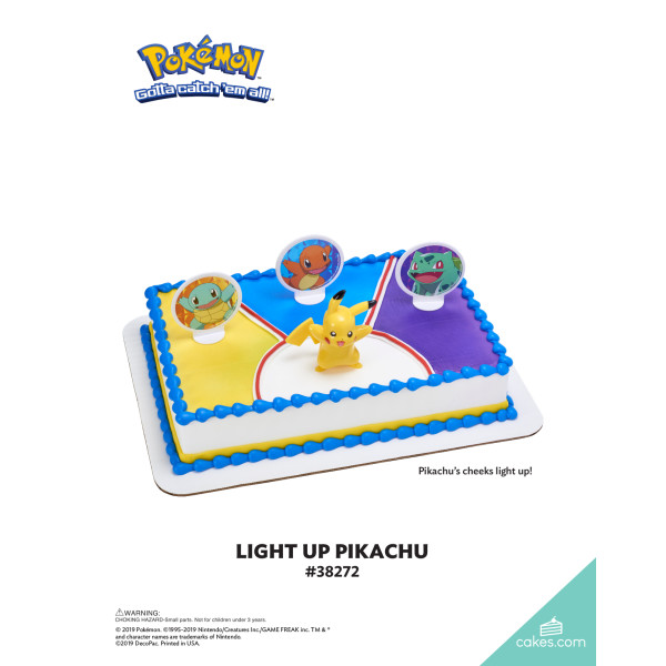 Pokémon™ Light Up Pikachu DecoSet® The Magic of Cakes® Page