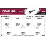"Polished Stainless Hex Cap Screws Assortment (3/8""-16 Thread)"