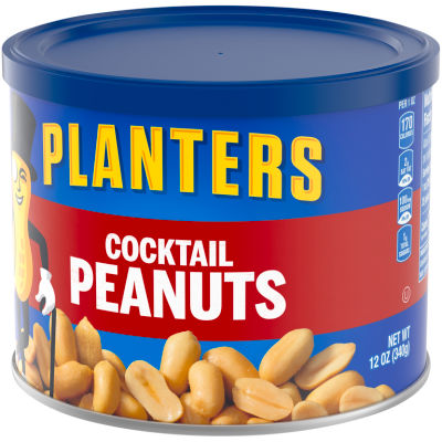 Planters Salted Cocktail Peanuts 12 oz Canister