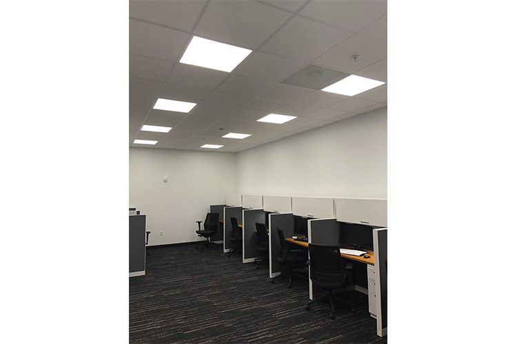Commercial bank with architectural recessed lighting