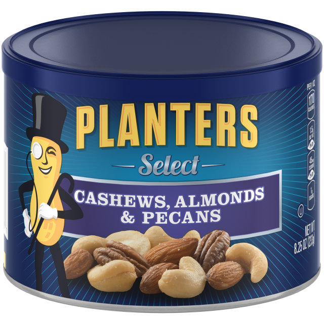 PLANTERS Select. Cashews, Almonds & Pecans 8.25 oz Can image