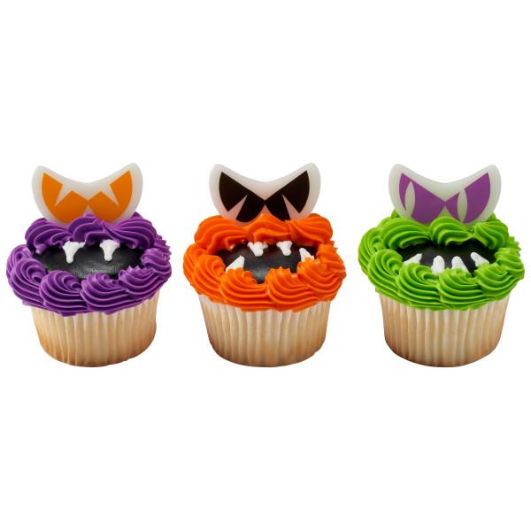 Scary Glow Eyes Cupcake Rings