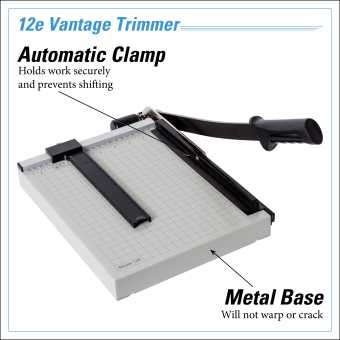 Dahle Vantage® 12e Trimmer InfoGraphic - Metal Base