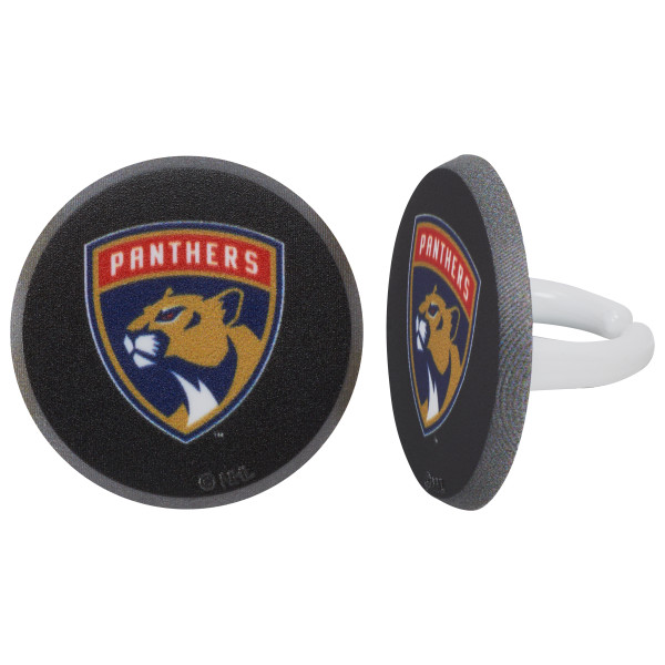 NHL® Puck Team Logo Cupcake Rings