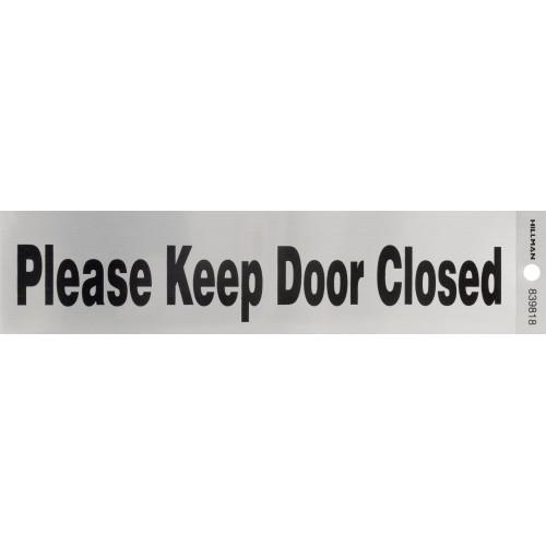 Adhesive Please Keep Door Closed Sign (2