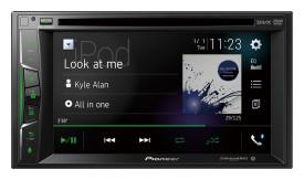 "Pioneer AVH-1500NEX 6.2"" Double-DIN In-Dash NEX Digital Media Receiver"