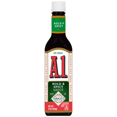 A1 Bold & Spicy TABASCO® Steak Sauce 10 oz Bottle