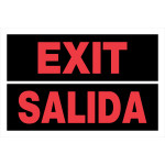 "Spanish / English Exit Sign (8"" x 12"")"