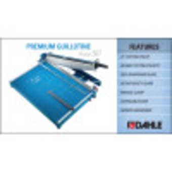 Dahle 567 Premium Guillotine InfoGraphic