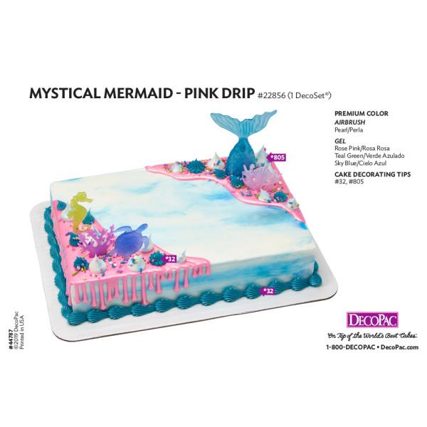 Mystical Mermaid Cake Decorating Instruction Card